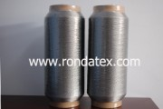 Stainless steel fiber sewing thread is made of pure stainless steel filament fiber onductive and heat resistant