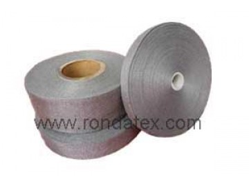 100% Stainless steel fiber woven belt for glass making ,printing industry and anti static remove industry
