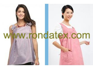 Steel fiber and silver fiber made anti radiation maternity clothing