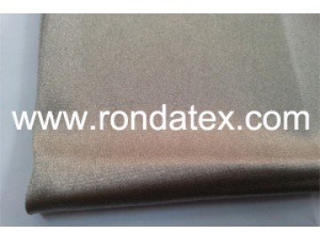 Pure silver knitted stretchable fabric