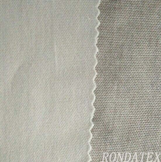 Silver cotton radiation shield knitted fabric